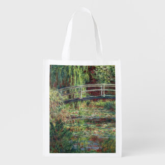 Waterlily Pond: Pink Harmony, 1900 Reusable Grocery Bag