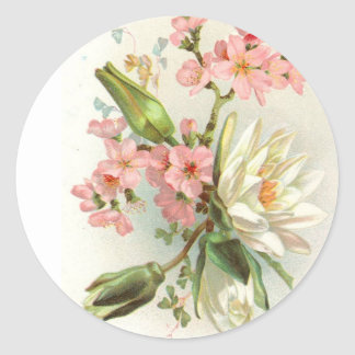 waterlily round sticker