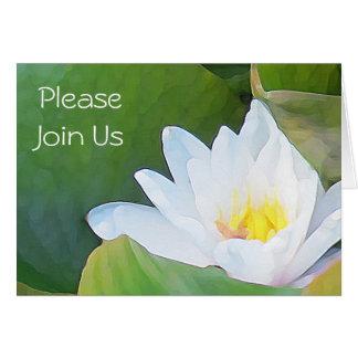 Waterlily Wedding Invitation Greeting Card