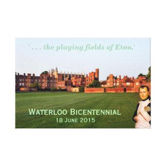 Waterloo Bicentennial, June 2015, 'fields of Eton' Canvas Print