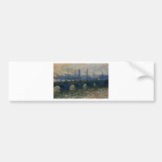Waterloo Bridge by Claude Monet Bumper Sticker