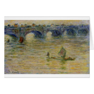Waterloo Bridge by Claude Monet Card