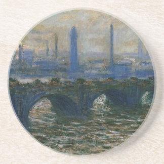 Waterloo Bridge by Claude Monet Drink Coasters