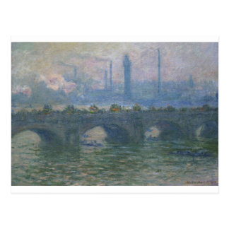 Waterloo Bridge by Claude Monet Postcard