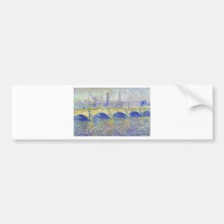 Waterloo Bridge, Effect of the Sun by Claude Monet Bumper Sticker
