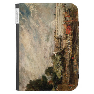 Waterloo Bridge from above Whitehall Stairs c 181 Kindle Folio Case
