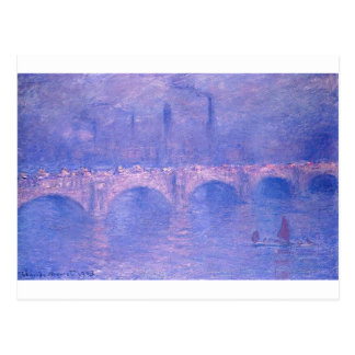 Waterloo Bridge, Hazy Sunshine by Claude Monet Postcard