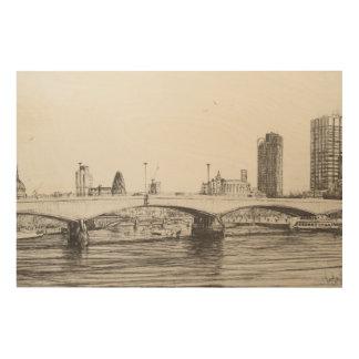 Waterloo Bridge London. 31/10/2006 Wood Print