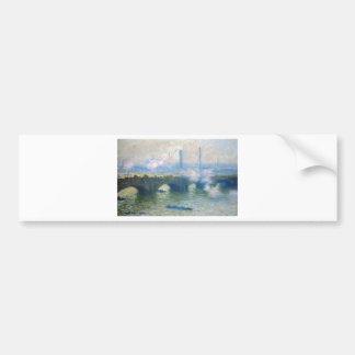 Waterloo Bridge, London by Claude Monet Bumper Sticker