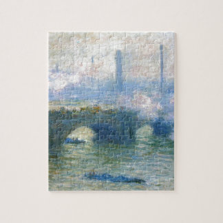 Waterloo Bridge, London by Claude Monet Jigsaw Puzzle