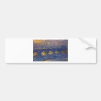 Waterloo Bridge, Overcast Weather by Claude Monet Bumper Sticker