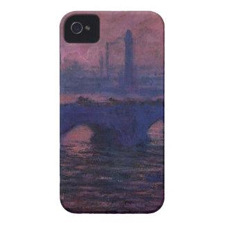 Waterloo Bridge, Overcast Weather by Claude Monet iPhone 4 Cover