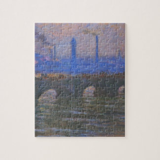 Waterloo Bridge, Overcast Weather by Claude Monet Jigsaw Puzzle