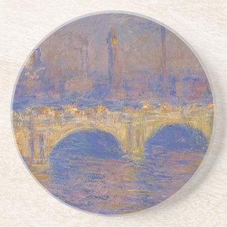 Waterloo Bridge, Sunlight Effect by Claude Monet Beverage Coasters