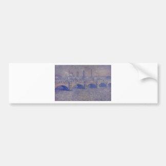 Waterloo Bridge, Sunlight Effect by Claude Monet Bumper Sticker