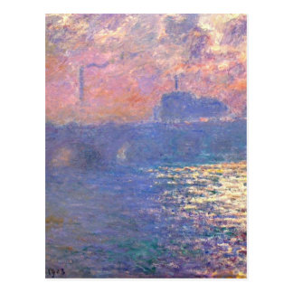Waterloo Bridge, Sunlight Effect by Claude Monet Postcard