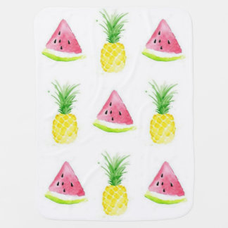 Watermelon and Pineapple Baby Blanket