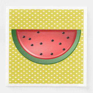 Watermelon and Polka Dots Disposable Serviette