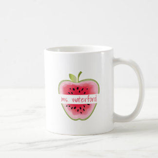 Watermelon Apple Personalized Teacher Coffee Mug