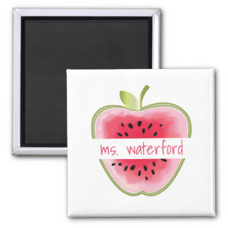Watermelon Apple Personalized Teacher Magnet