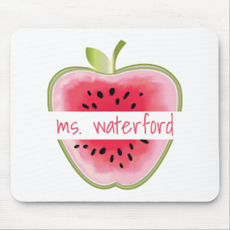 Watermelon Apple Personalized Teacher Mouse Mat