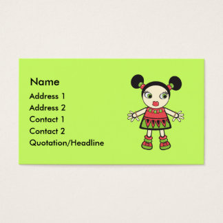Watermelon baby business card