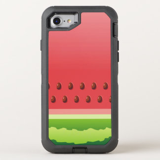 Watermelon Background OtterBox Defender iPhone 7 Case