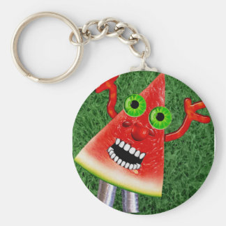 Watermelon Basic Round Button Key Ring