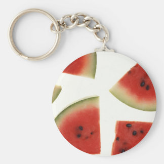 Watermelon Basic Round Button Key Ring