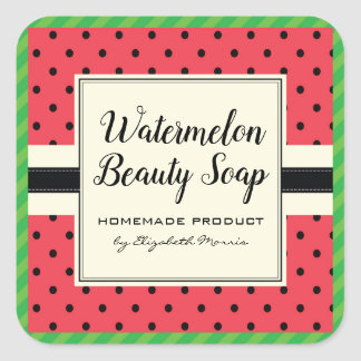 Watermelon beauty soap homemade product label