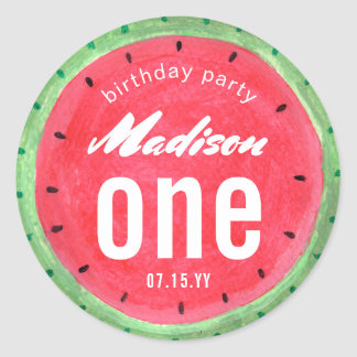 Watermelon | Birthday Party | Sticker