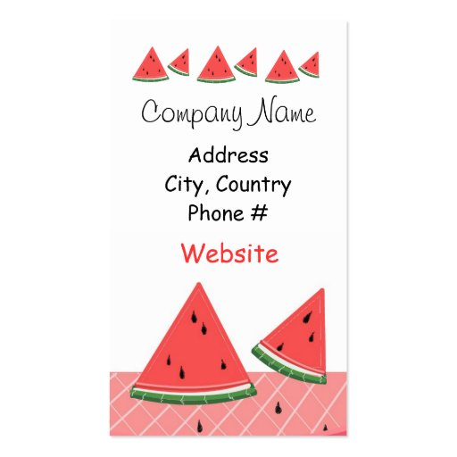 Watermelon Business Cards