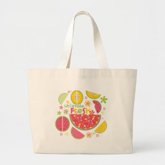 Watermelon Cantaloupe Fruit Sweet Health Fresh Tote Bag