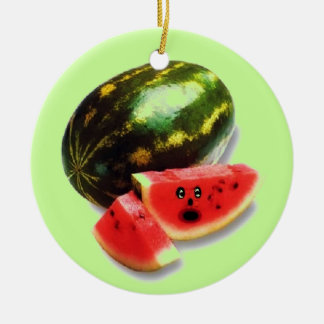 Watermelon Cartoon Christmas Ornament