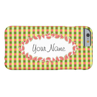 Watermelon Check Classic oval 'Name' horizontal Barely There iPhone 6 Case