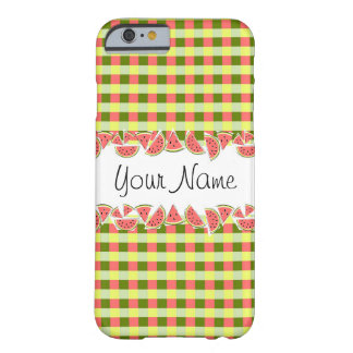 Watermelon Check Classic Your Name iPhone 6 case