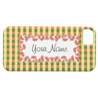 Watermelon Check 'Name' horizontal iPhone 5 Cover