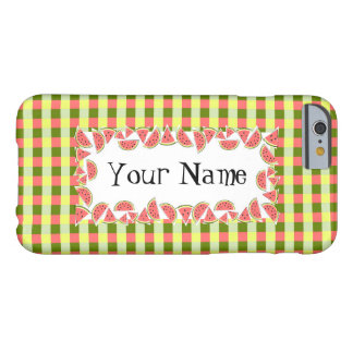 Watermelon Check 'Name' iPhone 6 horizontal Barely There iPhone 6 Case