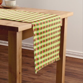 Watermelon Check table runner