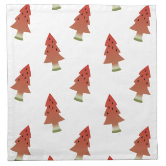 Watermelon Christmas Trees Cloth Napkins