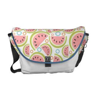 Watermelon Circles Commuter Bags