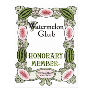 Watermelon Club Ragtime Postcard