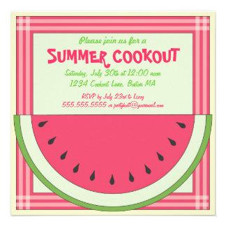 Watermelon Cookout Picnic Invitation
