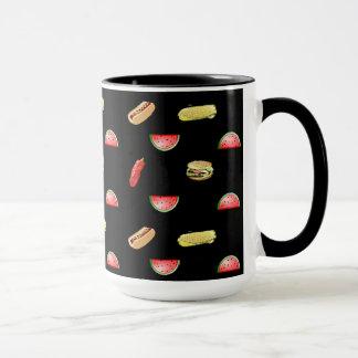 Watermelon, Corn, Hamburger, Hot dogs Coffee Cup