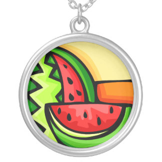 Watermelon Day August 3 Silver Plated Necklace
