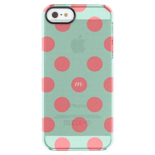 Watermelon Dots Clear iPhone SE/5/5s Case