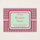 Watermelon Dots & Stripes Business Card