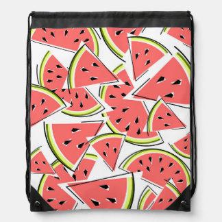 Watermelon drawstring backpack