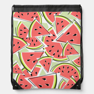 Watermelon drawstring backpack green