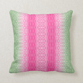 Watermelon Fancy Stripes Throw Pillow by JoMazArt©